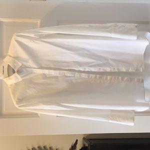 J Crew white cotton blouse.